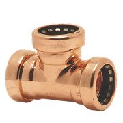 Yorkshire Tectite Sprint Push-Fit Pipe Equal Tee 15mm