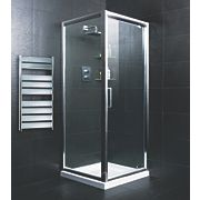 Moretti Pivot Door Shower Enclosure Silver 900mm