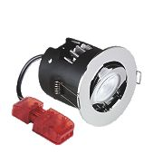 Aurora Fire Rated Adjustable LED Downlight IP20 Polished Chrome 10W