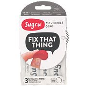 Sugru Mouldable Glue White Pack of 3