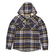 "Site Alpine Borg-Lined Hoodie Blue Check X Large 45-47"" Chest"