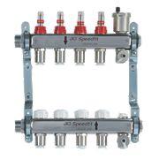 JG Speedfit 4-Port Manifold Set Chrome