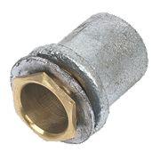 Coupler Flanged 25mm + Zinc Washer,Brs Bush - Pk 2