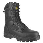 Amblers FS009C Hi-Leg Safety Boots Black Size 4