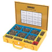 TurboGold Woodscrews Midi Trade Case Double Self-Countersunk Pack of 2000