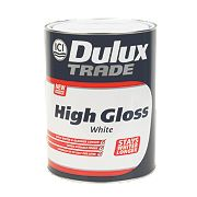 Dulux Trade High Gloss Paint White 5Ltr
