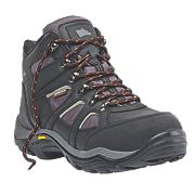 Hyena Valley Safety Boots Black Size 8