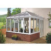 E1 uPVC Edwardian Double-Glazed Conservatory 2.53 x 2.46 x 2.98m