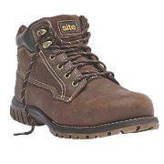 Site Clay Safety Boots Dark Brown Size 8