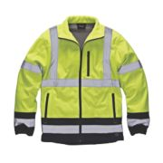 Dickies Hi-Vis Two-Tone Soft Shell Jacket Yellow/Navy X Large 50