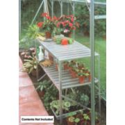 Halls Greenhouse 2-Tier Staging Aluminium Aluminium 19 x 42 x 28