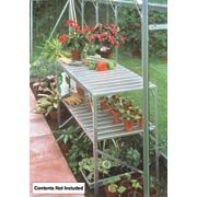 Halls Greenhouse 2-Tier Staging Aluminium Aluminium 19 x 42 x 28""