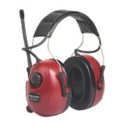 3M Peltor FM Radio Ear Defenders Red 32dB SNR