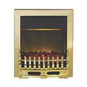 Cheshire Brass Top Control Electric Inset Fire