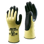 Showa KV3 Cut 5 Latex Palm Gloves Blue Large