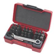 "Teng Tools Bit Set with ¼"" Bit Ratchet 29Pcs"