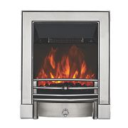 Focal Point Soho Chrome Switch Control Electric Freestanding Fire