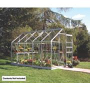 Halls Popular Framed Greenhouse Aluminium 6 x 10 x