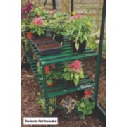 Halls Greenhouse 2-Tier Staging Green Aluminium Green 19 x 42 x 28