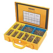 TurboGold Woodscrews General Trade Case Double Self-Countersunk Pk1400