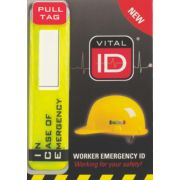 Vital ID Helmet Sticker with Window
