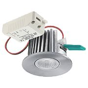 Sylvania Fixed Integrated LED Downlight 462Lm Brushed Aluminium 40W 240V