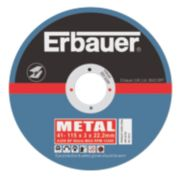 Erbauer Cutting Discs 115 x 3 x 22.23mm Pack of 5