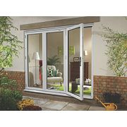 uPVC Fold & Slide Double-Glazed Patio Door LH White 2390 x 2090mm