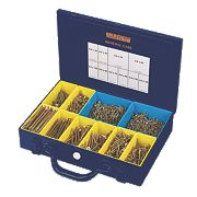 Goldscrew Plus Woodscrews General Trade Case Double-Self-Countersunk 1400Pcs