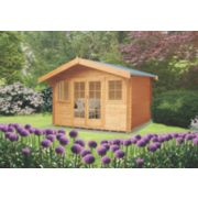 Shire Clipstone 1 Log Cabin Assembly Included 3.5 x 3.5m