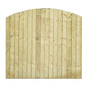 Grange Fencing Dome Feather Edge Fence Panels 1.8 x 1.7m Pack of 5