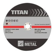 Titan Metal Cutting Discs 230 x 2 x 22.2mm Pack of 3