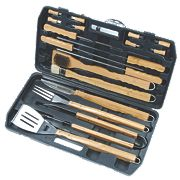 Grillstream Classic Bamboo Barbecue Tools 18 Piece Set x x
