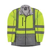 "Hyena Hi-Vis 2-Tone Soft Shell Jacket Yellow/Grey Medium 47"" Chest"
