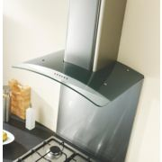 Curved Glass Cooker Chimney Hood Stainless Steel 900mm