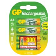 GP Batteries Smart Energy Rechargeable Batteries AA Pack of 4