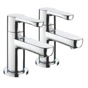 Bristan Nero Bath Pillar Taps Pair