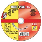 Flexovit Metal Cutting Discs 230 x 1.9 x 22.23mm Bore Pack of 3