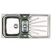 Astracast Kitchen Sink Pol. S/Steel 1½ Bowl Reversible Drainer 1000 x 190mm
