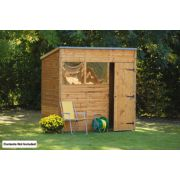 Forest Larchlap Shiplap Pent Shed 7 x 5 x 7' (Nominal)
