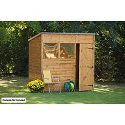 Forest Larchlap Shiplap Pent Shed 7 x 5 x 7