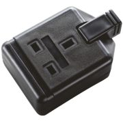 Masterplug Heavy Duty 13A 1-Gang Double Pole Rewireable Socket Black