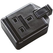 Masterplug Heavy Duty 13A 1-Gang Double Pole Rewirable Socket Black
