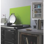 Lime Self-Adhesive Toughened Glass Splashback 750 x 900 x 6mm