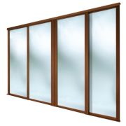 Spacepro 4 Door Framed Sliding Wardrobe Mirror Doors 2390 x 2260mm