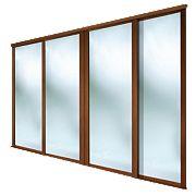 Spacepro 4 Door Framed Sliding Wardrobe Mirror Doors Mirror 2390 x 2260mm 4 Pack