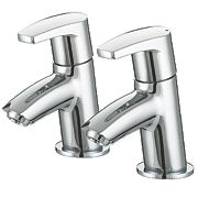 Bristan Orta Bath Pillar Taps Pair