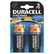 Duracell D 1.5V Alkaline Battery Pack of 2