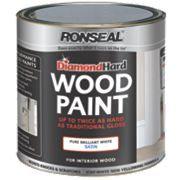 Ronseal Diamond Hard Wood Paint Satin Brilliant White 2.5Ltr