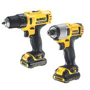 DeWalt DCK211S2 10.8V 1.5Ah Li-Ion Twin Pack Drill & Impact Driver XR